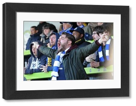 Bristol Rovers fan - Photo mandatory by-line: Dougie Allward/JMP - Mobile: - 29/04/2015 - SPORT - Football - Nailsworth - The New Lawn - Forest Green Rovers v Bristol Rovers - Vanarama Football Conference