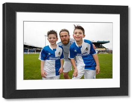 Mascot picture with Stuart Sinclair of Bristol Rovers - Mandatory byline: Rogan Thomson/JMP - - 20/02/2016 - FOOTBALL - Memorial Stadium - Bristol, England - Bristol Rovers v Morecambe - Sky Bet League 2