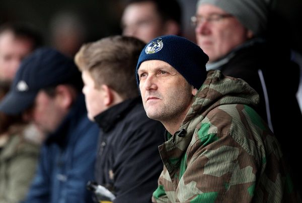 Bristol Rovers fan at AFC Wimbledon - Mandatory byline: Robbie Stephenson/JMP - - 26/12/2015 - FOOTBALL - Kingsmeadow Stadium - Wimbledon, England - AFC Wimbledon v Bristol Rovers - Sky Bet League Two