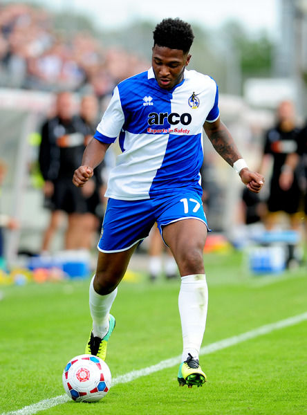 Bristol Rovers' Ellis Harrison - Photo mandatory by-line: Neil Brookman - Mobile: 30/08/2014 - SPORT - FOOTBALL - Bristol - Memorial Stadium - Bristol Rovers v FC Halifax - Vanarama Football Conference