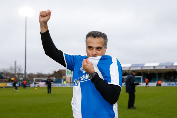 New Bristol Rovers President Wael Al-Qadi and his family are introduced to the Memorial Stadium at half time after the previous days announcement his family has taken a 92 percent stake in the club - Mandatory byline: Rogan Thomson/JMP - - 20/02/2016