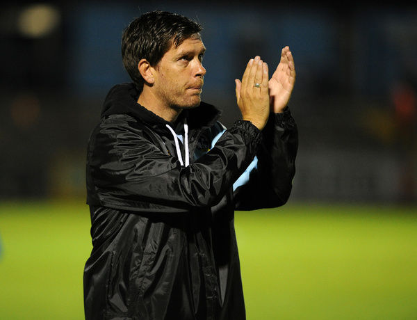 Bristol Rovers Manager Darrell Clarke after the win over Wycombe Wanderers - Mandatory byline: Neil Brookman/JMP - - 06/10/2015 - FOOTBALL - Memorial Stadium - Bristol, England - Bristol Rovers v Wycombe Wanderers - JPT Trophy