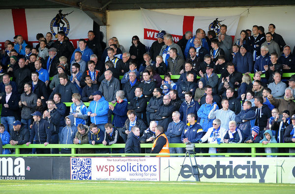 Fans - Photo mandatory by-line: Neil Brookman/JMP - Mobile: - 29/04/2015 - SPORT - Football - Nailsworth - The New Lawn - Forest Green Rovers v Bristol Rovers - Vanarama Football Conference