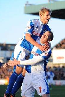 with Bristol Rovers' Mitch Harding - Photo mandatory by-line Dougie Allward JMP