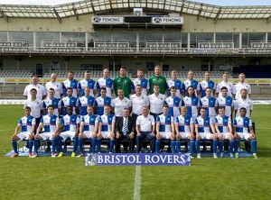 Middle Row L-R Darrell Clarke Assistant Manager Seanan Clucas Danny Woodards David